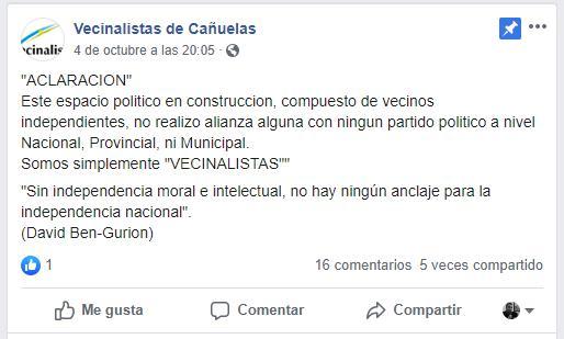 vecinalistas