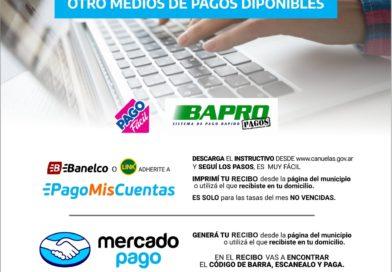 Nuevas modalidades de pago electrónico de tasas municipales.