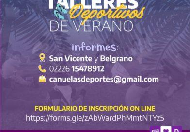 Abierta la inscripción para los Talleres Deportivos de verano.