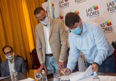 Las Flores recibió al Administrador de Vialidad Nacional, Gustavo Arrieta.