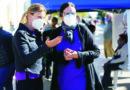 Este miércoles se puso en marcha en la esquina de Libertad y San Martín un operativo de vacunación antigripal.